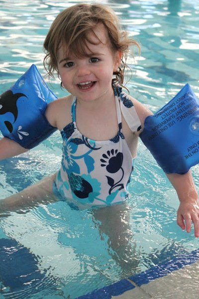 Toddler one-piece halter swimsuit