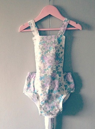 girls vintage romper swimsuit