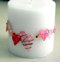 paint sample candle wreath