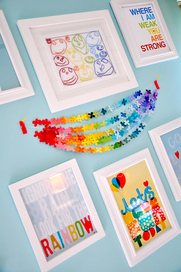 paint sample bunting