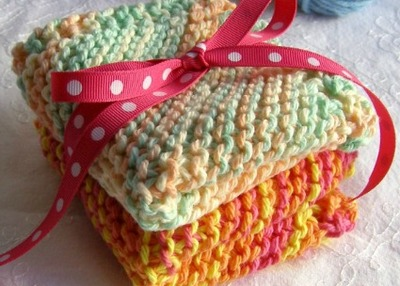 Easy knit dishcloths