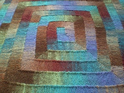 Multicolored knit blanket