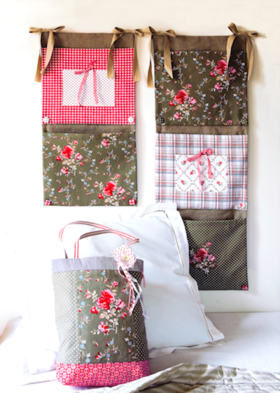Patchwork Fabric Wall Organizer