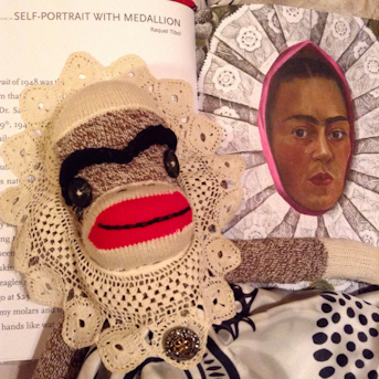 Frida Kahlo sock monkey
