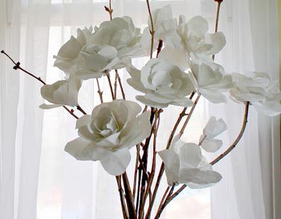 scrap paper roses