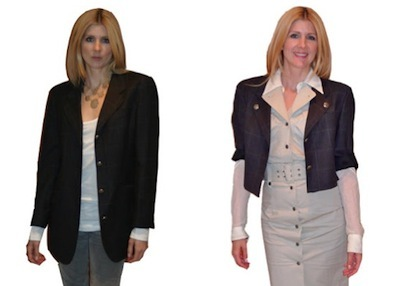 cropped jacket tutorial before and after