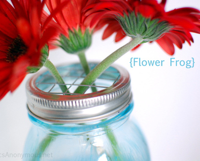 mason jar frog lids for flowers