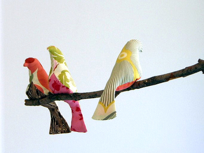 fabric birds for mother