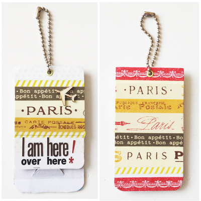 washi tape luggage tag