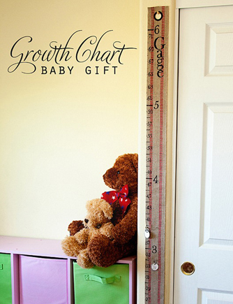 Handmade baby growth chart