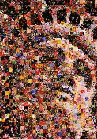 pointillism inspired art quilt