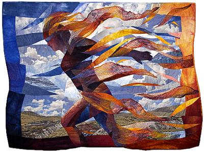 colorful desert quilt