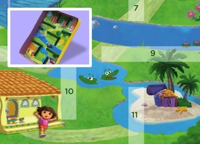 dora explorer cereal box craft