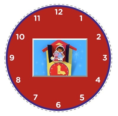 dora explorer clock cereal box craft