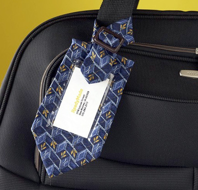 necktie luggage tag