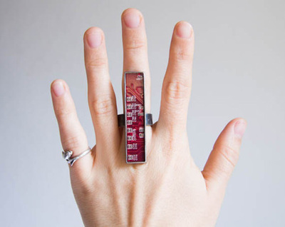 upcycled circuit board ring