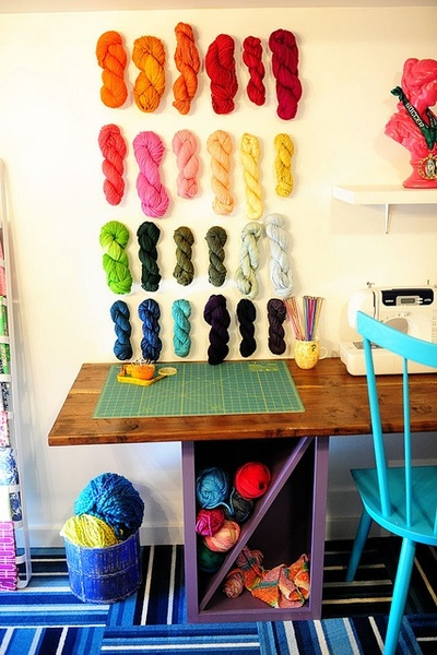Yarn Wall Display