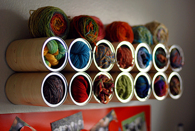 Coffee Can Yarn Storage