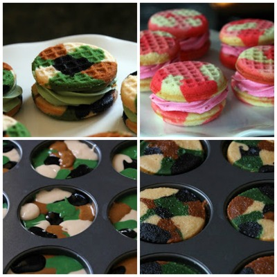 Camouflage Cupcake Sandwiches