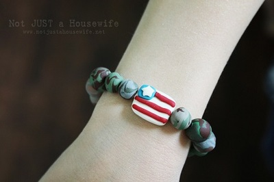 Camo and Flag Braclet