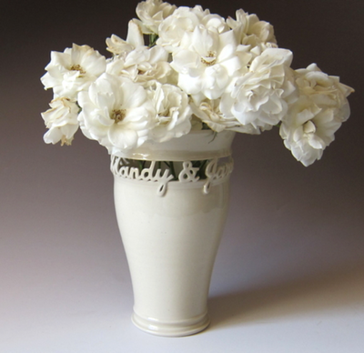 handmade personalized wedding vase