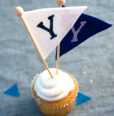 Cupcakes pennant toppers