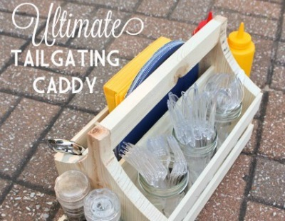 Wooden tailgating caddy