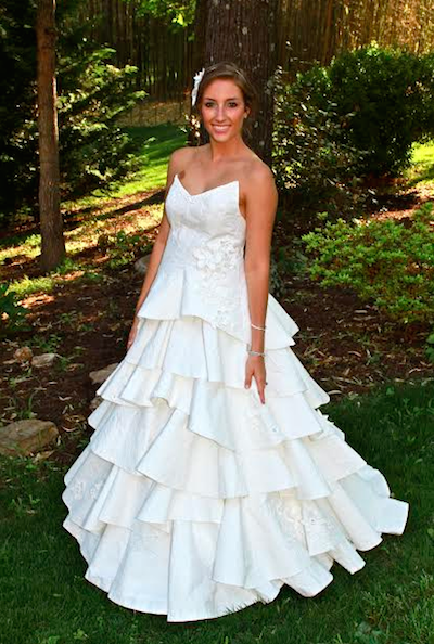 toilet paper wedding gown