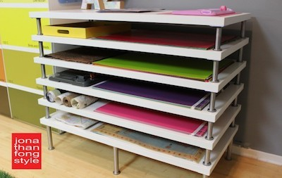 flat file storage rack