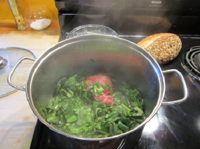 Greens with Ham Hocks