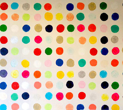 handpainted dots on wall