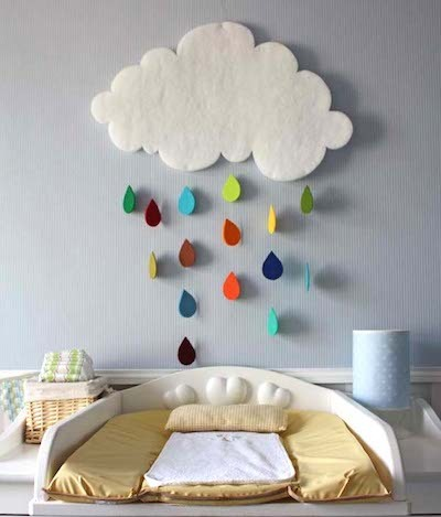 rainbow cloud wallhanging