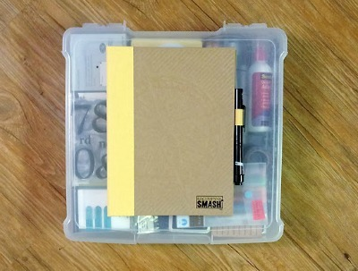 scrapbooking supply travel kit