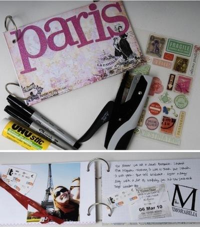 Paris mini scrapbook