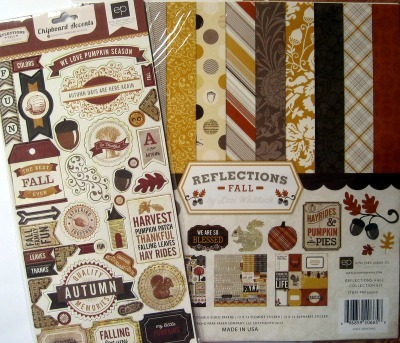 Scrapbooking papers and embellishments