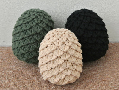 Game of Thrones Crochet Dragon Eggs