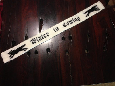 Game of Thrones Scarf Knitting Pattern