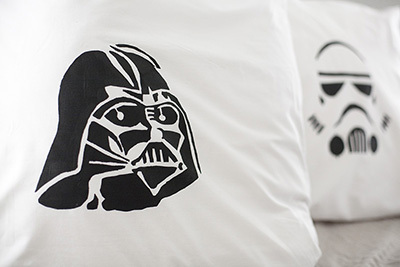 Star Wars, stencil, stencil pillowcase, DIY pillowcase