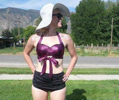 vintage crop bikini top