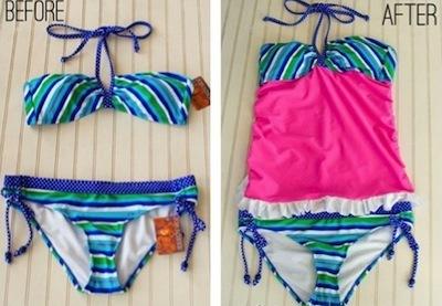 bikini to tankini pattern