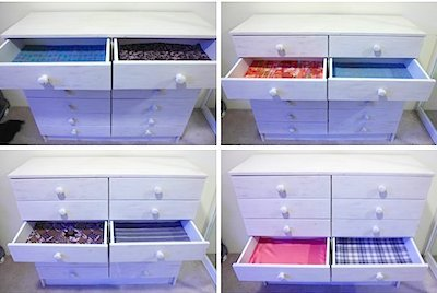 fabric drawer liners