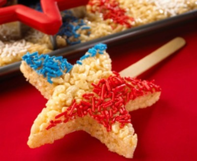 Star sprinkle rice krispie treats