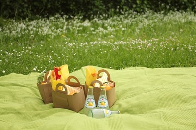 Butcher Paper Picnic Baskets
