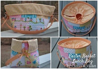Fabric Picnic Basket, drawstring bag