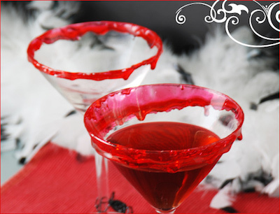 true blood candy rimmed martini glass