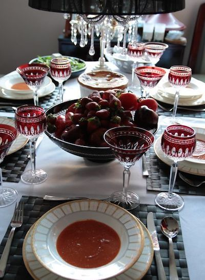 true blood dinner party table