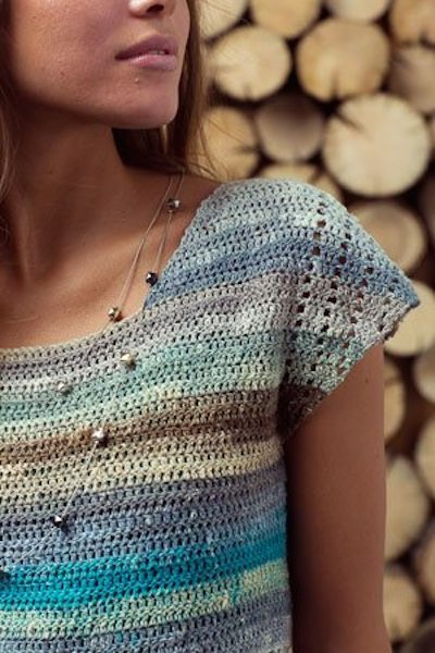 asymmetrical crochet top