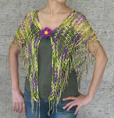 crochet fringe shawl