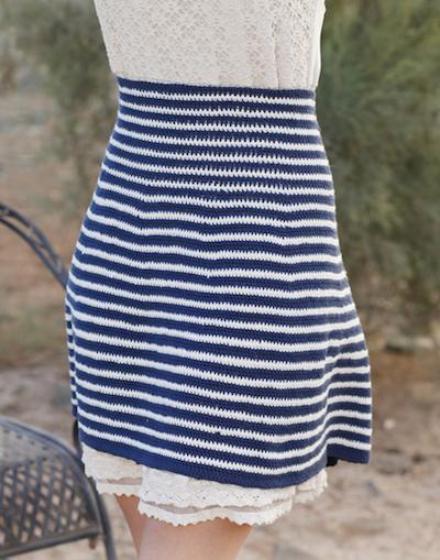 high waist crochet skirt
