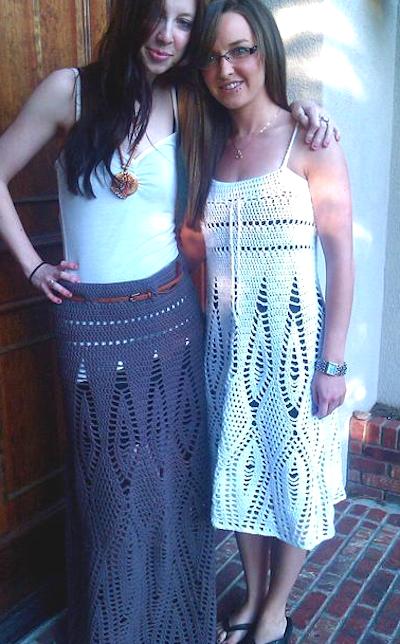 Boho Style Crochet Dress and Skirt Pattern